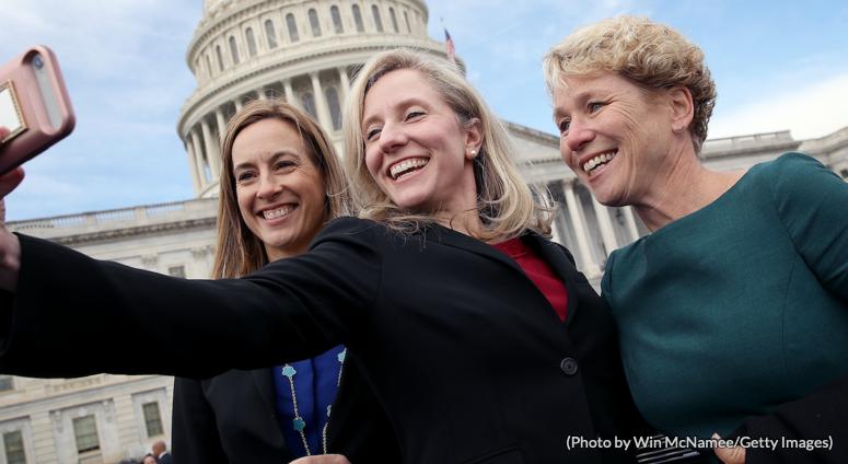 A few badass women of congress taking a selfie