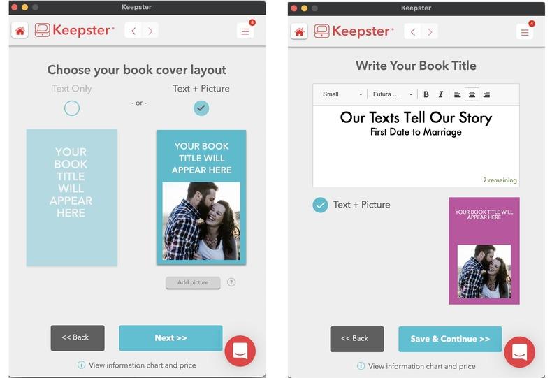 keepster design book cover screens