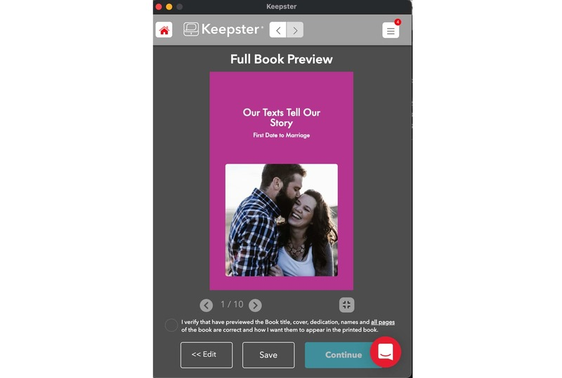 keepster romantic book full preview screen