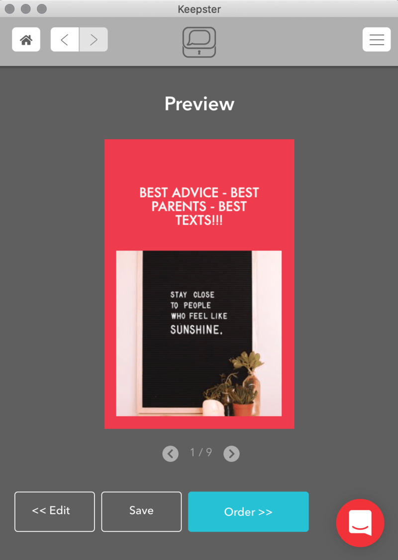 Preview of Keepster Book: Best Advice - Best Parents - Best Texts!!!